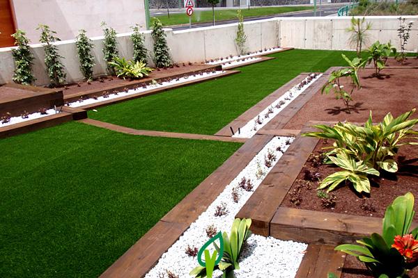 Jardines de c sped artificial para particulares - Fotos de cesped artificial ...